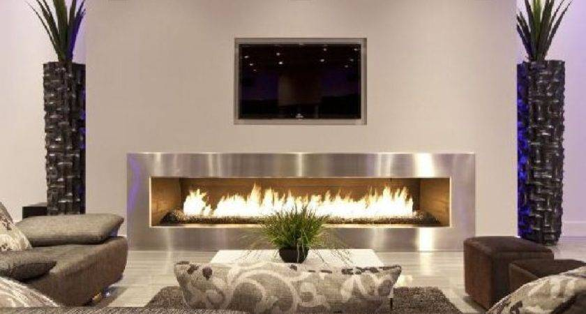Futuristic Fireplace Interior Design Living Room Indoor