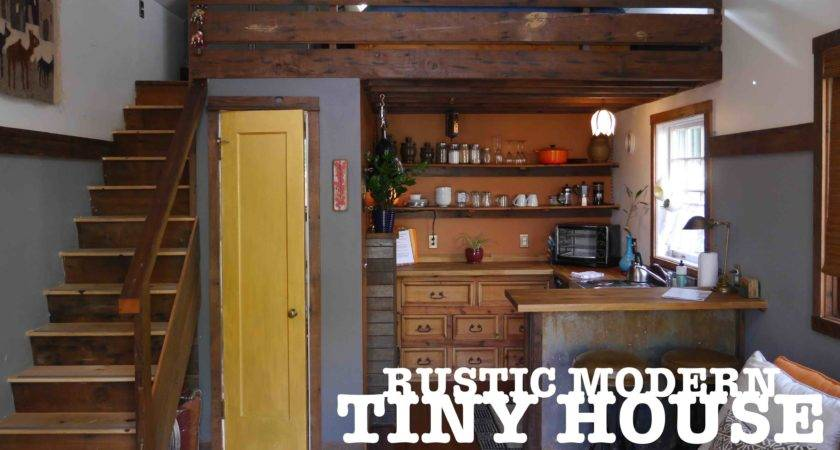 Garage Turned Into Tiny House Rustic Modern