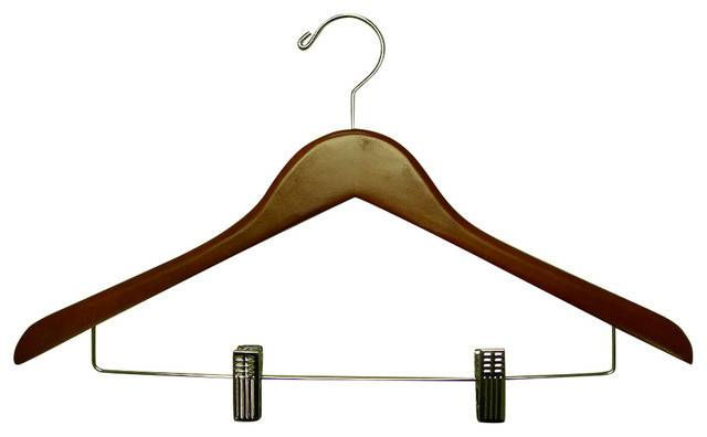 Genesis Flat Suit Hanger Wire Clips Traditional