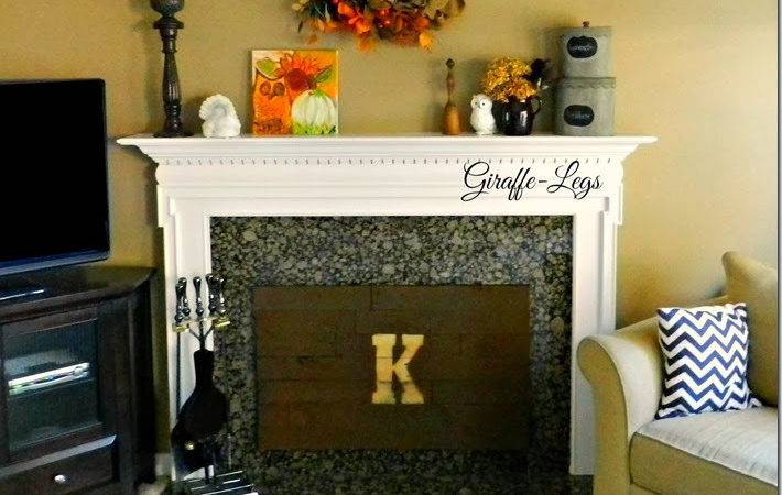 Giraffe Legs Created Insulated Fireplace Cover