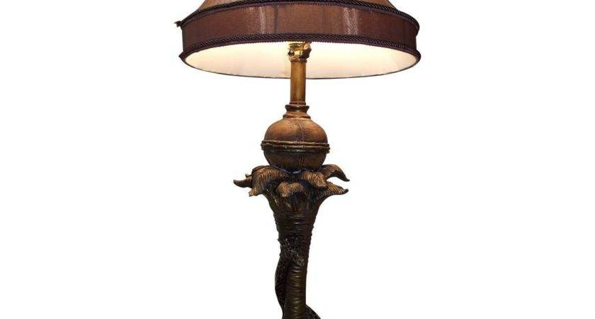 Giraffe Table Buffet Lamp Unusual Brown