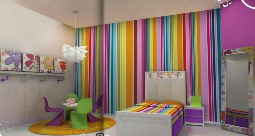 Girls Room Paint Ideas Stripes