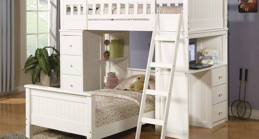 Girls White Loft Bed Small Room Great Ideas