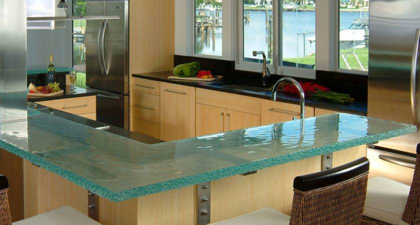Glass Kitchen Countertops Thinkglass Idesignarch