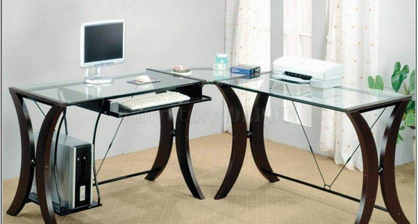 Glass Office Table Design Ombitec Top