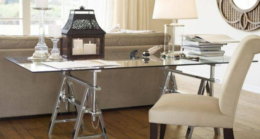 Glass Office Table Pottery Barn Desk