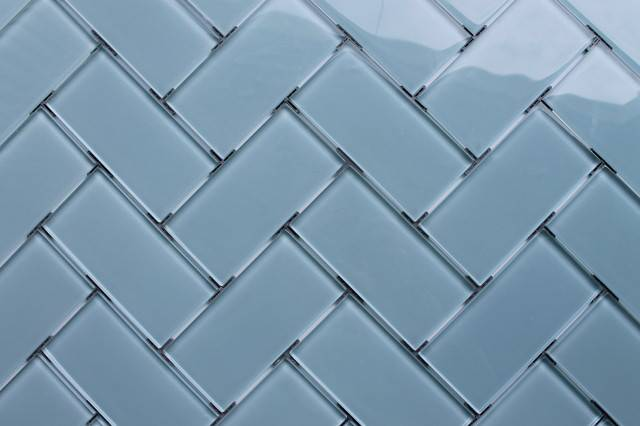 Glass Subway Tile Pattern Inspiration Contemporary