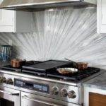 Glass Tile Backsplash Contemporary Kitchen Metro