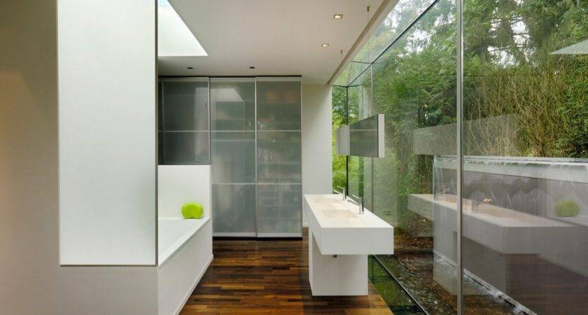 Glass Walls Bathroom Home Inspiring