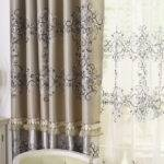 Gothic Floral Window Blind Curtaind Set Sheer Curtain