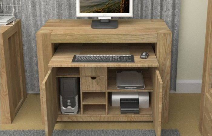 Grand Solid Chunky Oak Furniture Hidden Home Office