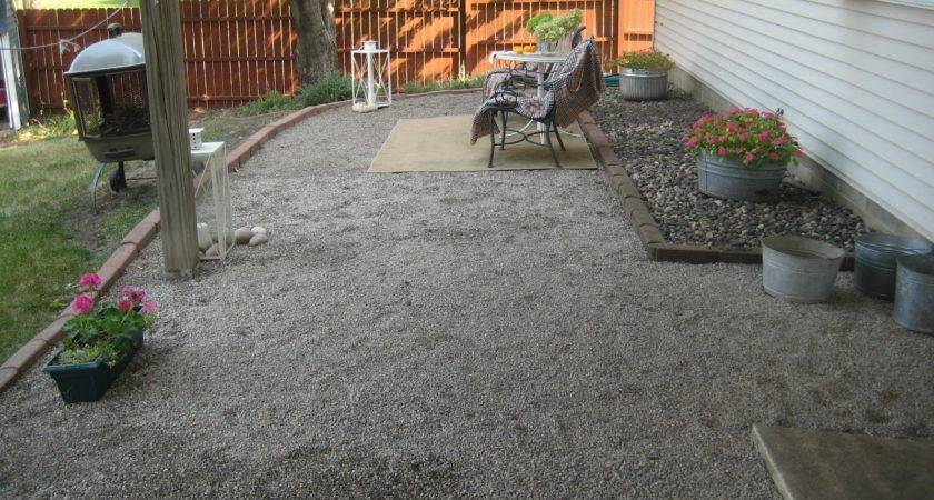 Gravel Backyard Ideas Design Using