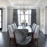 Gray Dining Room Medallion Curtains
