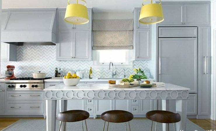 Gray Kitchen Pops Yellow Contemporary
