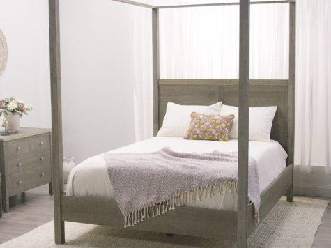 Gray Marlon Queen Canopy Bed World Market
