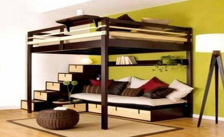 Great Bunk Beds Couch Underneath Big Boys Room