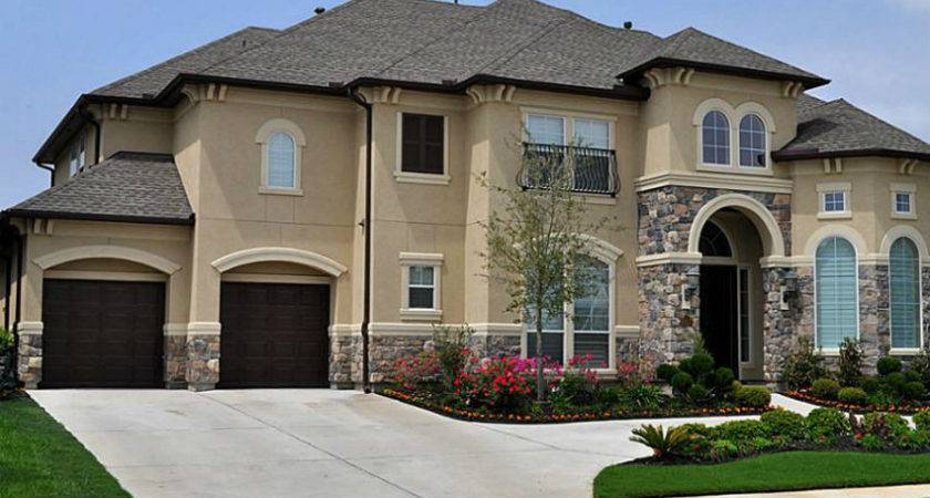 Great Stucco Rock House Examples Blue Collar