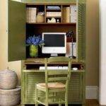 Green Cupboard Home Office Design Ideas Small Spaces