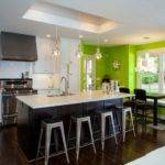 Green Kitchen Walls Accent Wall Yellow