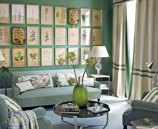 Green Living Room Ideas Traditional