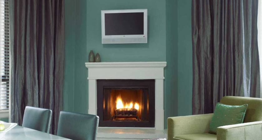 Green Stylish Fireplace Interior Design Galleria