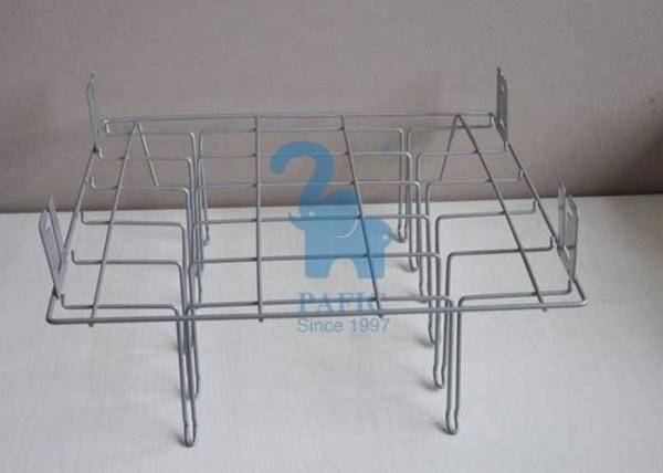 Grey Powder Coated Wire Retail Display Racks