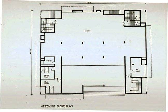 Grindlays Bank Drawing Mezzanine Floor Plan Archnet