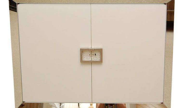 Grosfeld House White Lacquer Cabinet Dry Bar Stdibs