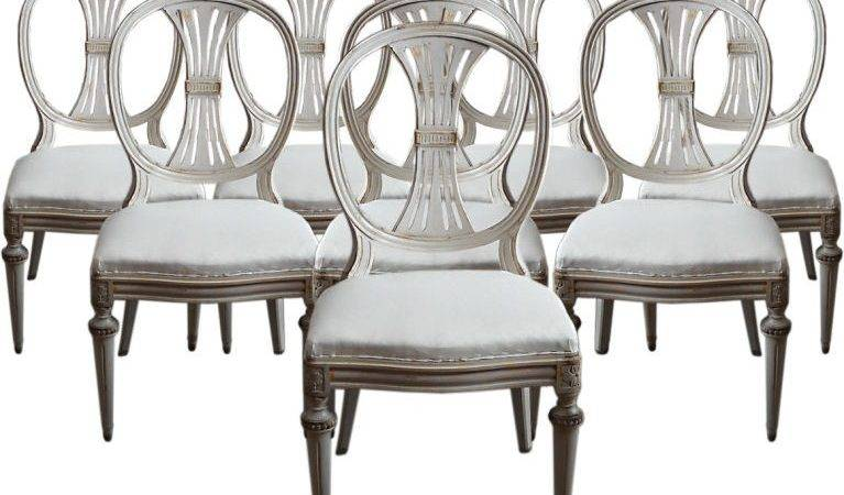 Gustavian Style Dining Chairs Seller Cupboards Roses