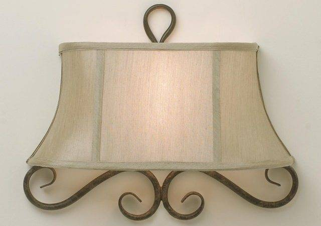 Half Shade Iron Scroll Sconce Lamp Shades