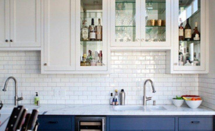 Halfsies Your Kitchen Colored Cabinets