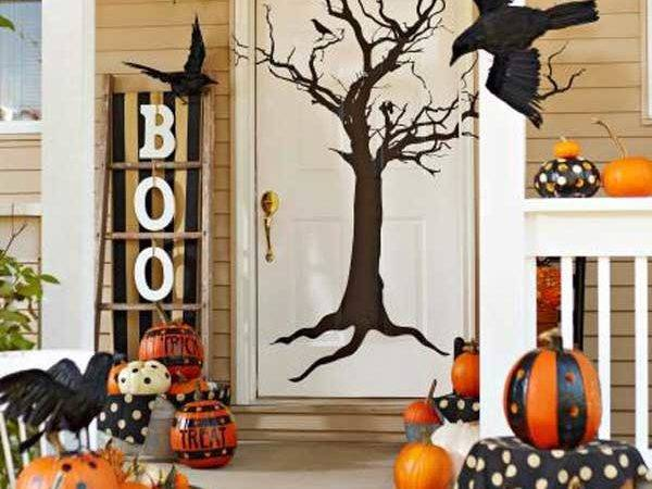 Halloween Door Decorations Interior Exterior Doors