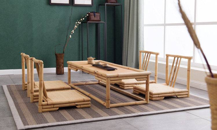 Hand Crafted Modern Rattan Bamboo Furniture Floor Table