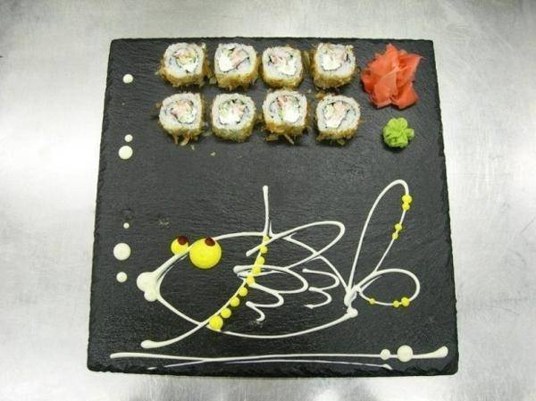 Hand Painted Sushi Plates Creative Asian Party Table