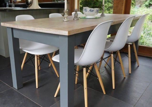 Hand Painted Table Eames Style Chairs Contemporary