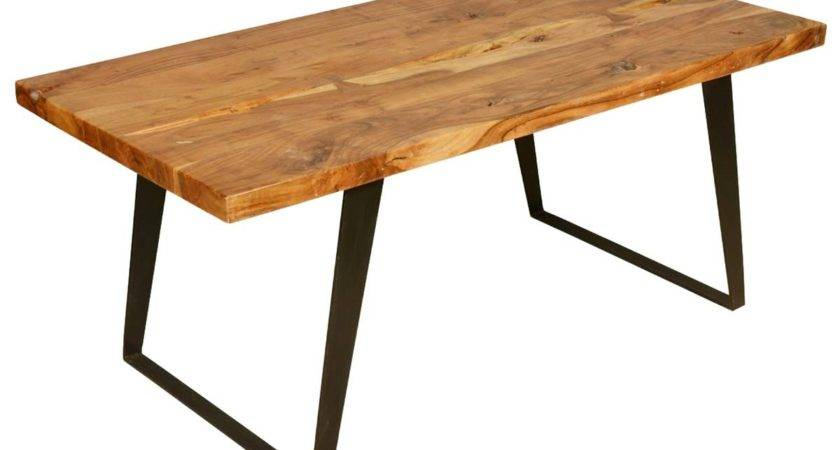 Hankin Modern Rustic Solid Wood Industrial Style Dining Table