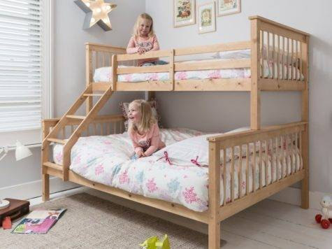 Hannah Triple Bunk Bed Natural Noa Nani