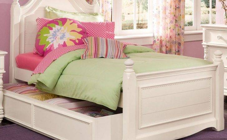 Hannah White Twin Trundle Bed Beds Girls