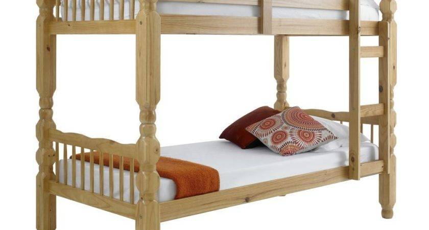 Happy Beds Bunk Bed Chunky Strong Solid Pine Wood Two