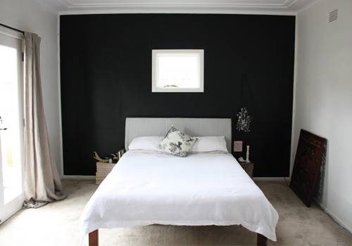 Happy Home Bedroom Makeover New Black Wall