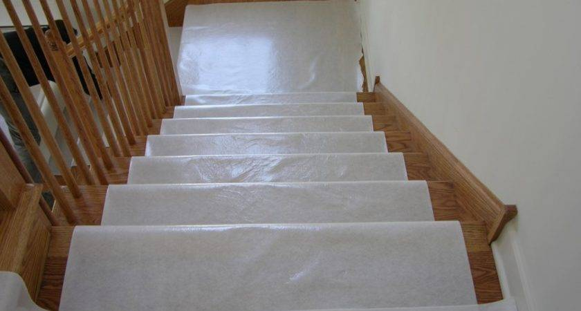 Hardwood Floor Stair Protection Finished Guard