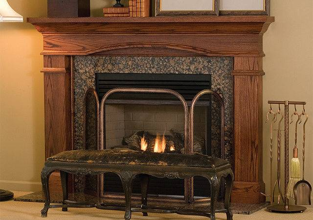 Hawthorne Custom Traditional Wood Fireplace Mantel