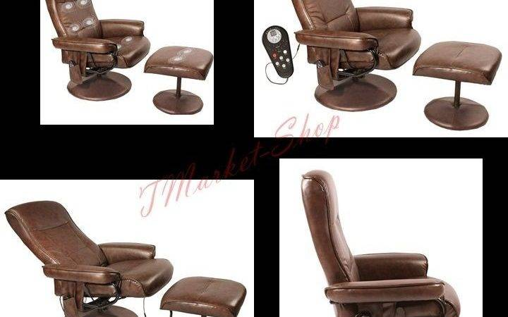 Health Care Leather Chair Massage Tapered Arm Comfort Heat