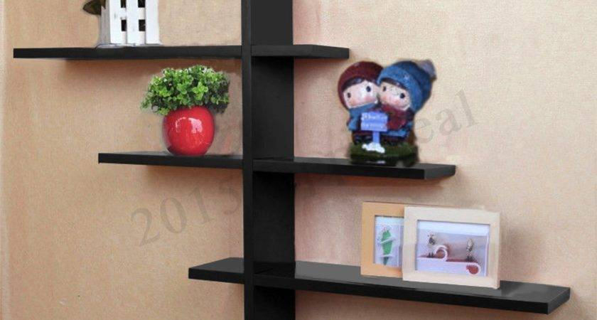 Heavy Duty Shape Floating Wall Mount Shelves Book Dvd
