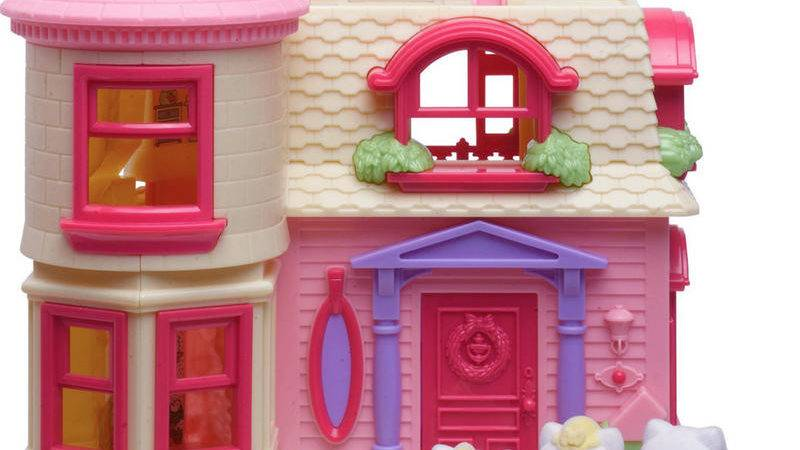 Hello Kitty Happy Home Play Set Fold Out Doll House