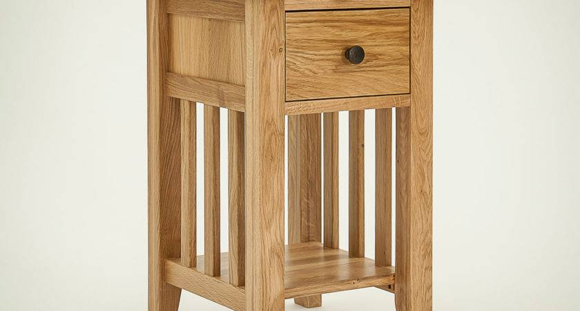 Hereford Rustic Oak Drawer Narrow Bedside Table