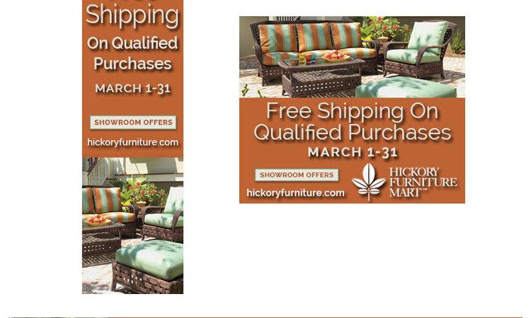 Hickory Furniture Mart Web Banners Shipping