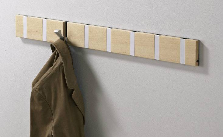 High Low Space Saving Retractable Wall Hooks Remodelista