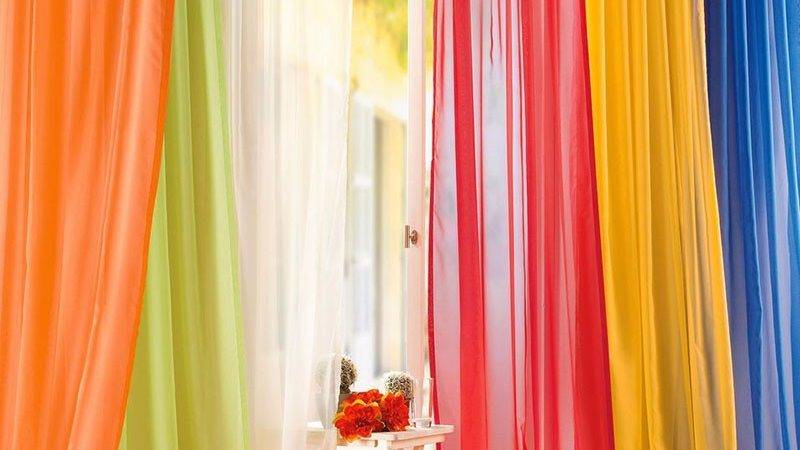 High Quality Organza Solid Sheer Colored Curtains
