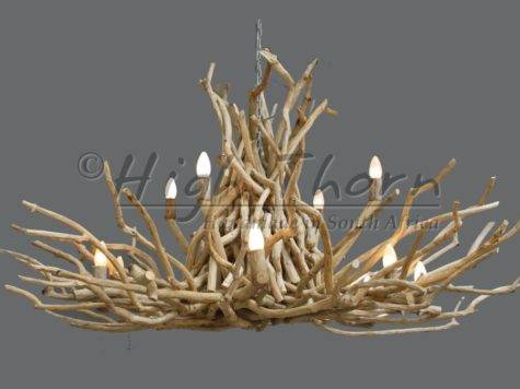 High Thorn Twig Disk Chandeliers Handmade South